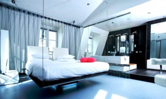 Il design retro futuristico del kube hotel a parigi for Design hotel parigi