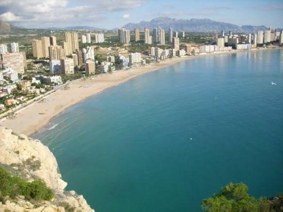 Una meravigliosa veduta della costa spagnola