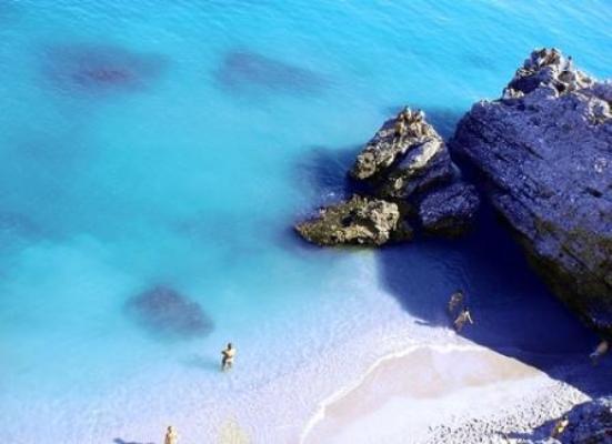 Veduta di una spiaggia della Costa del Sol