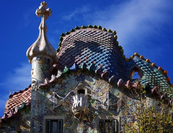 Veduta dell'opera di Gaudì