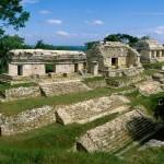Veduta di alcune rovine Maya