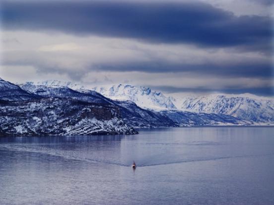 Splendida veduta norvegese