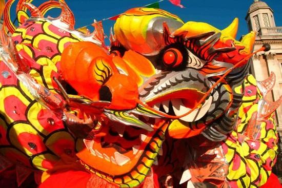 capodanno cinese la sfilata del Drago