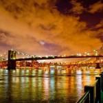 Ponte di Brooklyn al tramonto
