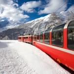 Bernina Express, Piz Bernina, Morteratschgletscher, Montebellokurve