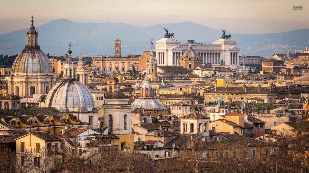 vista di Roma dal Rione Regola