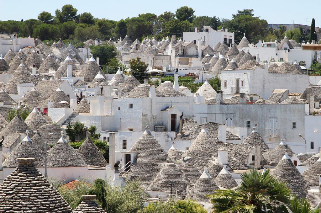 I trulli di del borgo di Alberobello